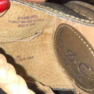 boc Shoes - Boc tan and gold gladiator sandals